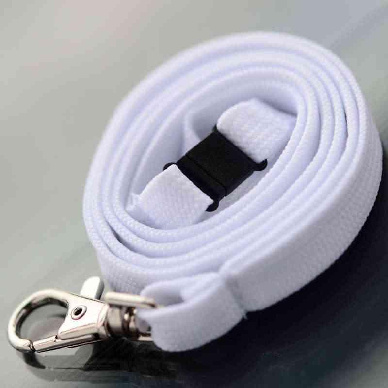 Valkoinen Classic 10mm kaulanauha turvalukolla ja papukaijaklipsillä