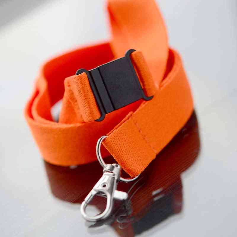 Oranssi Avainnauha 20mm turvalukolla ja papukaijaklipsillä (sopii sublimaatiopainamiseen)