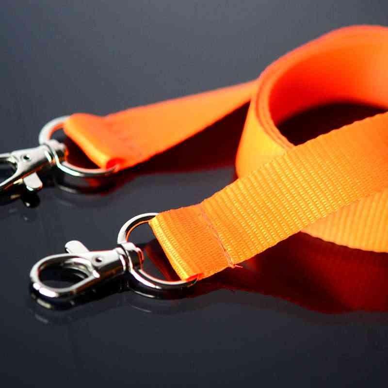 Oranssi Avainnauha 20mm kahdella klipsillä, ei turvalukkoa, pehmeä materiaali