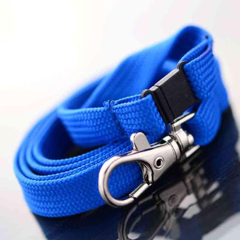 Sininen Classic 10mm kaulanauha turvalukolla ja papukaijaklipsillä