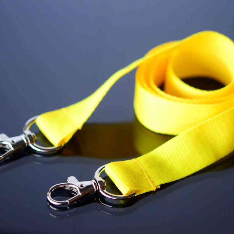 Keltainen Avainnauha 20mm kahdella klipsillä, ei turvalukkoa, pehmeä materiaali