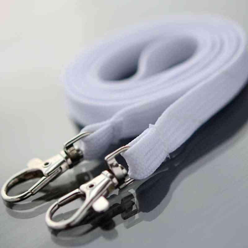 Valkoinen Classic 10mm kaulanauha Kahdella papukaijaklipsillä