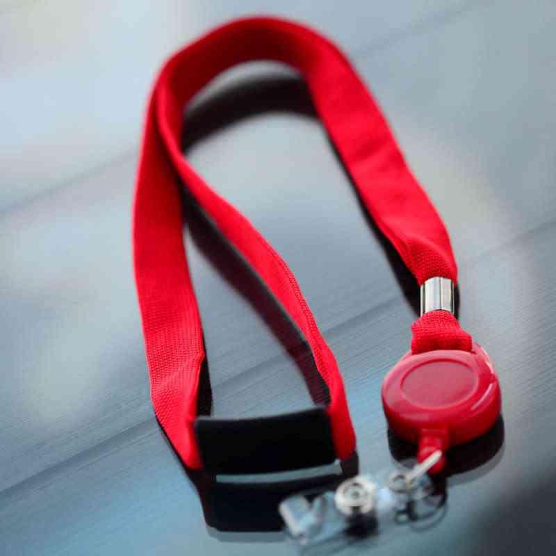 Punainen 16mm kaulanauha turvalukolla, punainen Jojo-pidike vinyylilenkillä