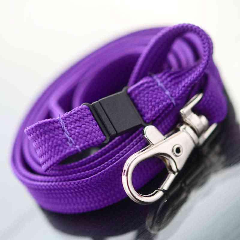 Violetti Classic 10mm kaulanauha turvalukolla ja papukaijaklipsillä