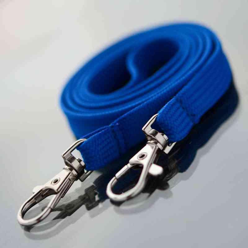 Sininen Classic 10mm kaulanauha Kahdella papukaijaklipsillä