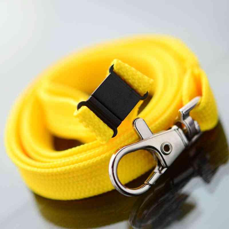 Keltainen Classic 10mm kaulanauha turvalukolla ja papukaijaklipsillä