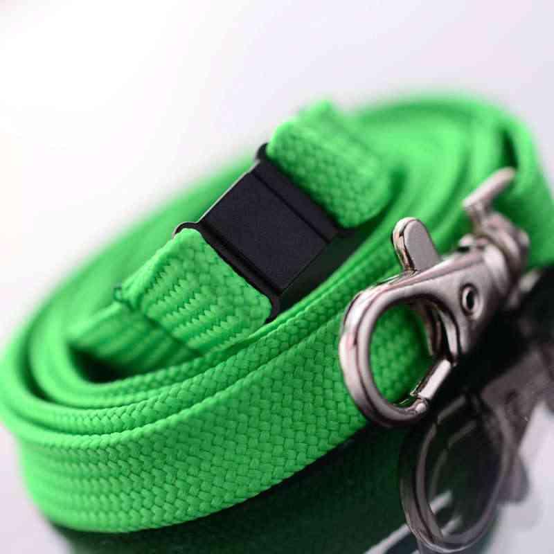 Vihreä Classic 10mm kaulanauha turvalukolla ja papukaijaklipsillä