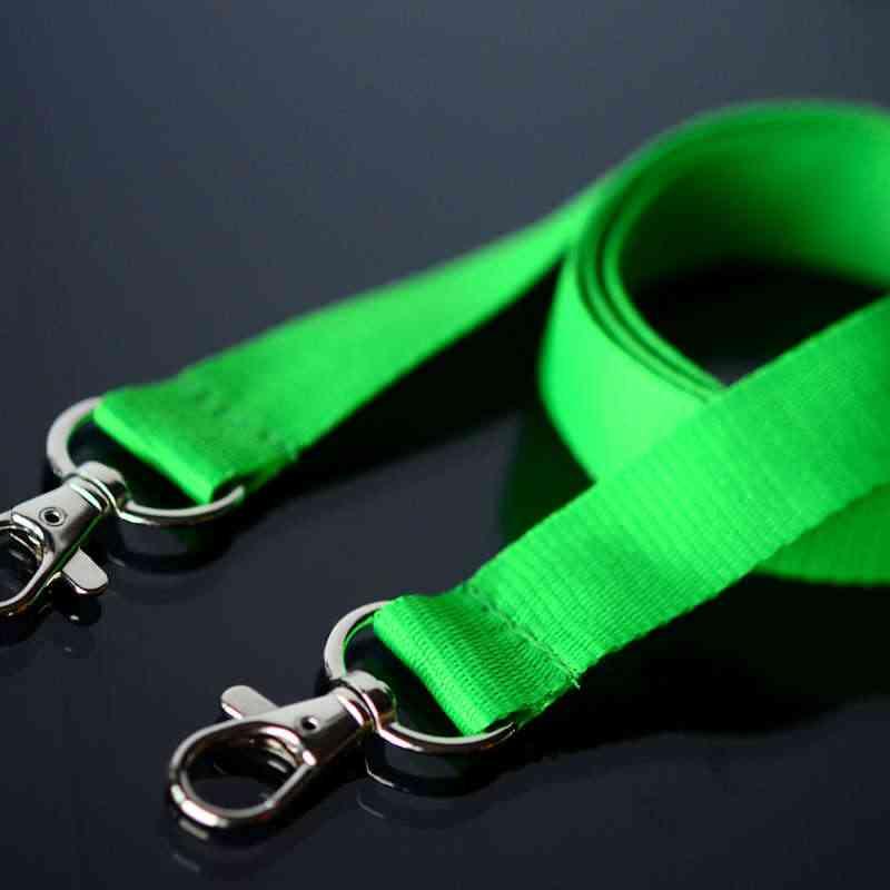 Vihreä Avainnauha 20mm kahdella klipsillä, ei turvalukkoa, pehmeä materiaali